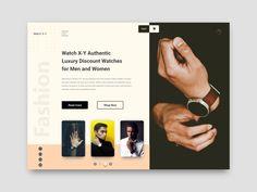 Watch ecomarce store landing page Website Design Layout, Web Layout, Layout Design, Graph Design, Web Ui Design, Ux Design Portfolio, Newsletter Template Free, Song Words, Landing Page Design