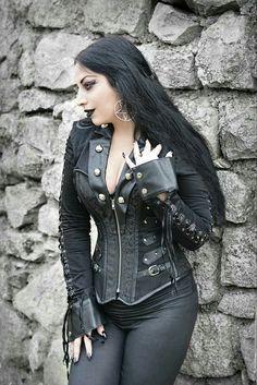 Photo: Vanic Photography Model: Kali Noir Diamond Jacket: The Violet Vixen Goth Beauty, Dark Beauty, Dark Fashion, Gothic Fashion, Fashion Tips, Steam Punk, Dark Black, Estilo Rock, Gothic Models