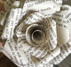 Book Page Roses : 5 Steps (with Pictures) - Instructables Folded Book Art, Paper Book, Book Folding, Paper Art, Paper Crafts, Old Book Pages, Old Books, Antique Books, Old Book Crafts