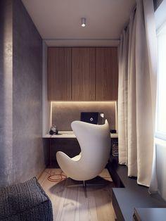 The Arne Jacobsen Egg Chair: The Danish Design Icon - Home decoration ideas Canapé Design, House Design, Design Parquet, 60s Home Decor, Home Office Setup, Office Storage, Office Ideas, Modern Office Design, Home Office Design