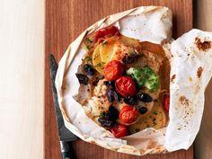 Get Food Network Kitchen's Mediterranean Cod Packets Recipe from Food Network
