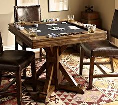 Card Table #potterybarn front room