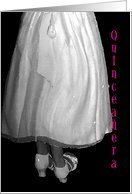 15th Birthday, Quinceañera, Black and White Movement In Her Gown and Heels Card by Greeting Card Universe. $3.00. 5 x 7 inch premium quality folded paper greeting card. Greeting Card Universe offers the largest selection of birthday cards on the web. Send a paper card to your friends and family this year. Allow Greeting Card Universe to handle all your birthday card needs this year. This paper card includes the following themes: Quinceaera, Quinceanera, and 15 Birthday. G...
