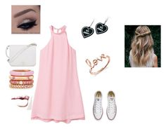 """""""Pretty In Pink"""" by kelseyjsheffe on Polyvore featuring MANGO, Converse, Furla, Adolfo Courrier, Sydney Evan and Witch Worldwide"""