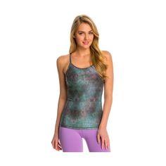 Wear It To Heart Enigma Essential Yoga Tank Top ($28) ❤ liked on Polyvore featuring activewear, activewear tops, logo sportswear, balcony bra, shelf bra, strappy cami and yoga sportswear