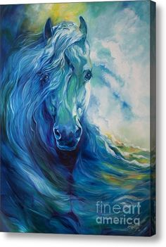 Abstract Horse Paintings - Wave Runner Blue Ghost Equine by Marcia Baldwin Horse Drawings, Art Drawings, Horse Artwork, Blue Horse, Equine Art, Animal Paintings, Horse Paintings, Pastel Paintings, Zebras