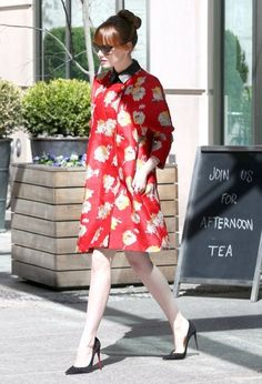 'The Amazing Spiderman 2' actress Emma Stone avoids the cameras while out and about in New York City, New York on April 28, 2014.
