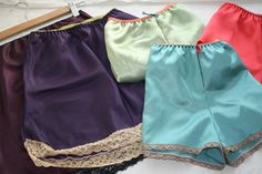 make your own vintage style tap pants and slips for under dresses... I'll use fine cotton or silk or muslin.