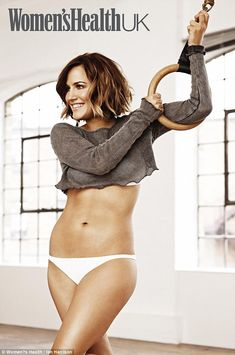 Fighting fit: Caroline Flack looks incredible as she shows off her hard-earned size 8 figure in an athletic photoshoot for the June issue of Women's Health UK