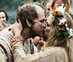Floki and his wife. Vikings.