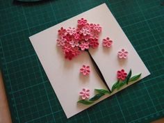 Quilling by Anca Milchis: Cherry blossom - Work in progress