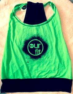 Our Fit Fluro Green Top