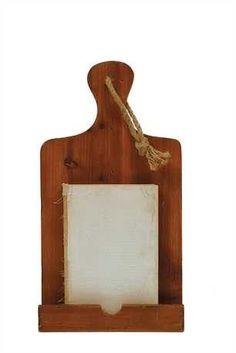 """8-1/2""""L x 16""""H Wood Tablet Holder"""