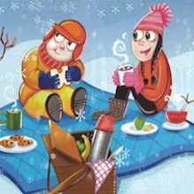Go on a Winter Snowy Picnic - activity from Ranger Rick magazine Cabin Activities, Picnic Activities, Winter Outdoor Activities, Outdoor Fun For Kids, Outdoor Play, Winter Kids, Winter Christmas, Ranger Rick Magazine, Indoor Snowballs