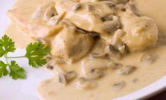 ▷ Pollo con champiñones | CONPOLLO.ME | Recetas de cocina con pollo Cheeseburger Chowder, Soup, Chicken With Mushrooms, Recipes With Chicken, Breast, Tasty, Caramelized Onions, Mustard Seed, Easy Meals