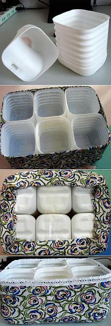Plastic bottles come in handy. orga … - Famous Last Words Cardboard Storage, Diy Storage, Plastic Bottle Crafts, Recycle Plastic Bottles, Diy Home Crafts, Diy Home Decor, Creation Deco, Recycled Crafts, Diy Projects
