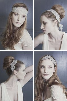 "SMALL WHITE SATIN FABRIC 3/"" DOUBLE SIDE BOW ALICE HAIR HEAD BAND WEDDING BRIDAL"