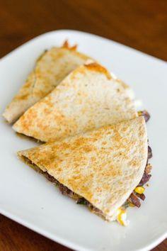 Black Bean, Corn, and Poblano Quesadillas : Kendra's Treats