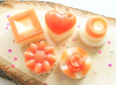 Handmade wax melt in fragrance Coconut & Peach Flower. All individually hand poured. SCENT DESC: A sweet combination of fruity notes with fresh juicy pineapple, smooth banana, almond and peach flower with a background of coconut, vanilla and tonka. Peach Flowers, Complimentary Colors, Wax Melts, Luster, Pineapple, Almond, Vanilla, Great Gifts, Fragrance