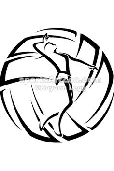 Sports Art Zoo - Woman Volleyball Accent #volleyball #sportsartzoo
