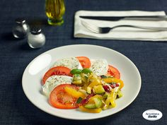 Caprese Salad with Sautéed Vegetables and Thyme