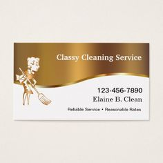 House cleaning maid business card pinterest cleaning maid classy cleaning business cards colourmoves