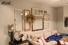 11 totally Unexpected Ways to Fill Your Blank Walls (in Minutes!) s 11 totally unexpected ways to fill your blank walls in minutes, repurposing upcycling, wall deco Old Window Frames, Wall Of Frames, Empty Frames Decor, Old Window Ideas, Empty Wall Spaces, Funky Junk Interiors, Blank Walls, Window Design, Wall Design