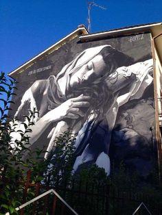 Roma: nuovo muro dell'artista venezuelano di nascita e romano d'adozione GÔMEZ