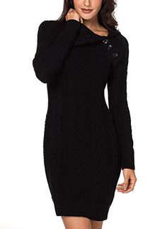 8d43982f0f4 Dokotoo Womens Winter Cozy Casual Cable Knit Slim Sweater Jumper Dress      Check this