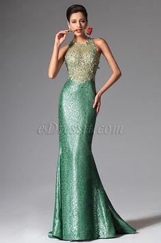 Robe de soiree courte vert anis