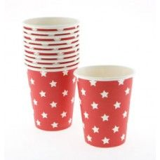 Sambellina Red with White Star Cups