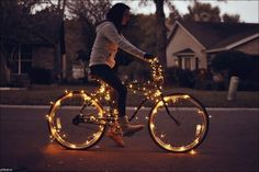 Bike photography Christmas light