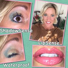 #LoveTheSkinYouAreIn featuring Pink Plumeria #LipSense with Persimmon #LinerSense & Mystic Moss, Lemon Quartz, and Sandstone Pearl #ShadowSense All #waterproof Just what every #cowgirl needs! Order today! Great for us #girlhunters too!!