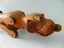 BIG! 1930s era Pull along Wooden Disney Pluto Dog Toy