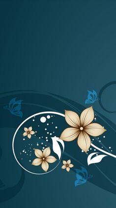 Gold Wallpaper Hd, Flowery Wallpaper, Painting Wallpaper, Butterfly Wallpaper, Mobile Wallpaper, Pattern Wallpaper, Wallpaper Backgrounds, Wallpaper Nature Flowers, Flower Background Wallpaper