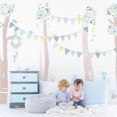 Forest Scene removable wall stickers by Schmooks