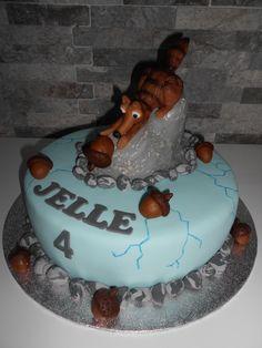 Ice Age Taart met Scrat Ice Age Cake with Scrat