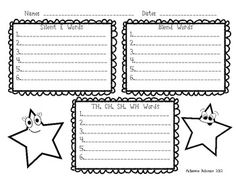 Write Around the Room: Digraphs, Blends and Silent-E Teaching Reading, Teaching Ideas, Silent E, Blends And Digraphs, Spelling Practice, Fun Walk, 2nd Grade Writing, E Words, Recording Sheets