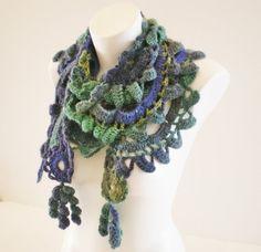 Crochet Scarf . Handmade crochet scarf by fotolabidamaria on Etsy