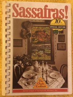 Vintage 1985 HC Sassafras Cookbook Junior League of Springfield Missouri MO | eBay