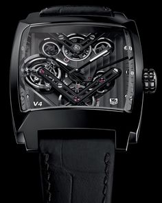 """TAG Heuer Monaco V4 Tourbillon Is The First Belt-Driven Tourbillon - See more about this watch we recently tried on and shared with you direct from Basel on aBlogtoWatch.com """"It is mind-boggling to think that one of Tag Heuer's most extraordinary creations, the Monaco V4 is already a bold ten years old. Today, we are looking at the piece with which the brand celebrates the tenth anniversary of what is one of the most technically impressive watches it has ever produced..."""" #ABTWBaselworld2014"""