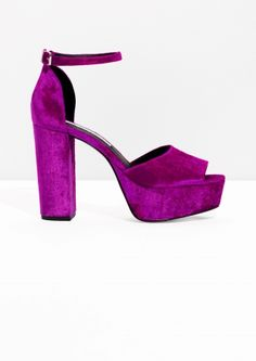 & Other Stories image 1 of Night Fever Platforms in Magenta