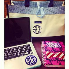 a monogrammed college life. perfect