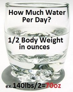 Use the formula to figure out how much water you should be drinking each day.