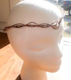 Copper wire wrapped tiara - Branch circlet - Celtic Tiara - Pearl Tiara - Wedding Tiara - Pearl Circlet - Elvish Headpiece