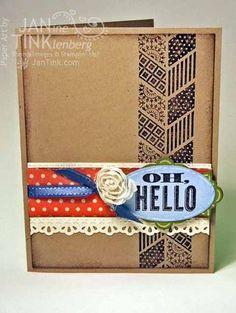 2013 Spring Catalog Oh Hello stamp set, flower trim, SAB ribbon by stampspaperscissors