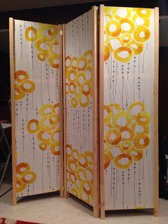 diy room divider with Ikea Ivar side panels Hanging Room Dividers, Diy Room Divider, Room Divider Screen, Divider Ideas, Fabric Room Dividers, Diy Projects Room, Ikea Hacks, Cool Rooms, Dollar Stores