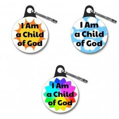 """2018 """"I Am A Child of God"""" Zipper Pull, LDS, primary, birthday, gift"""