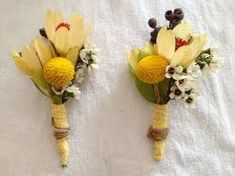 Image result for yellow button flowers corsage