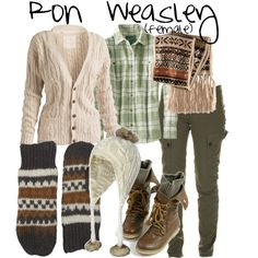 Ron Weasley (female) by accio-disney on Polyvore
